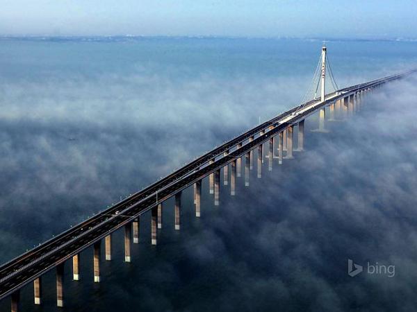 Unik Karena Megah di Atas Danau, Jembatan Ini Bertarung Gelar 'Terpanjang di Dunia'