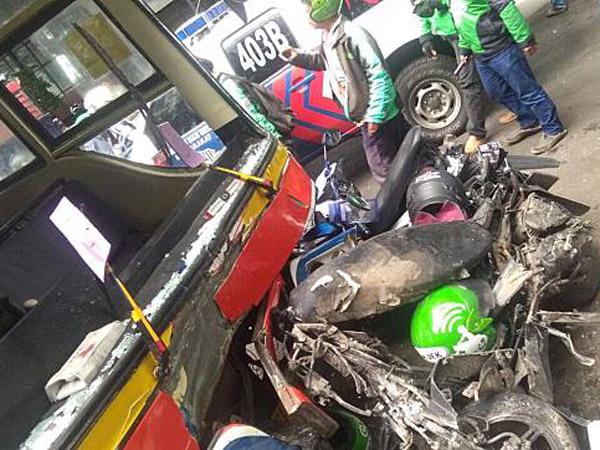 Ancaman Hukuman Sopir Metro Mini yang Hantam Driver Go-Jek Picu Kemarahan Netizen