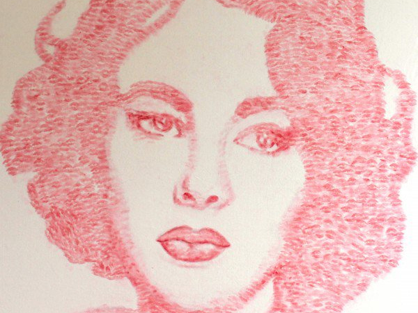 Keren, Artis Ini Gunakan Bibirnya Untuk Ciptakan Lukisan