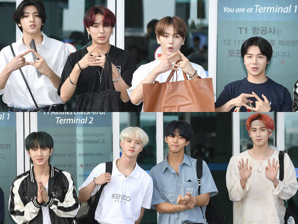 Foto-foto Keberangkatan PENTAGON Menuju Indonesia, Are You Ready Universe?
