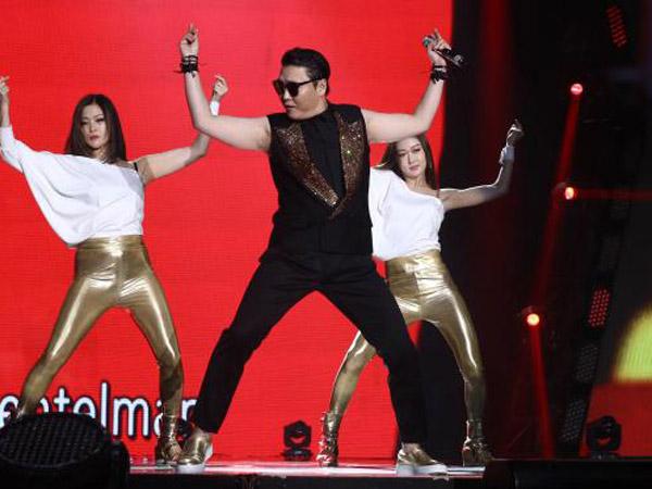Perdana di Indonesia, Psy 'Gangnam Style' Puas Hibur Penggemar di Acara Musik Tadi Malam!