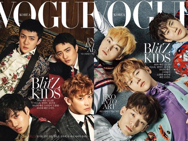 Tampannya EXO Bertransformasi Jadi 'Dandy Boys' di Pemotretan Majalah Vogue