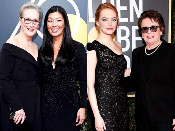 Tak Hanya Pakai Busana Hitam, Sederet Bintang Hollywood Ini Ajak Aktivis ke Golden Globes 2018