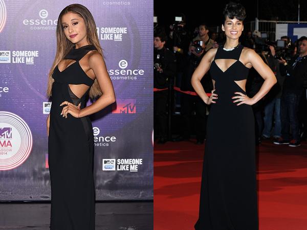 Sexy Black Gown Kembar Ariana Grande vs Alicia Keys, Siapa Termodis?