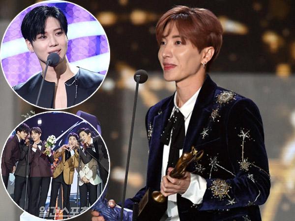 Momen Lucu Hingga Haru Saat Leeteuk SJ Gantikan EXO & Taemin SHINee di 'SMA 2018'