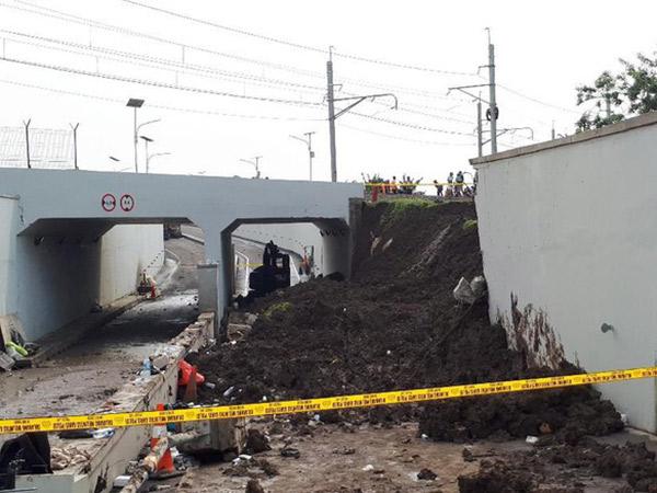 Polisi Selidiki Kemungkinan Adanya Pelanggaran Sebabkan Longsornya Tembok Underpass Bandara