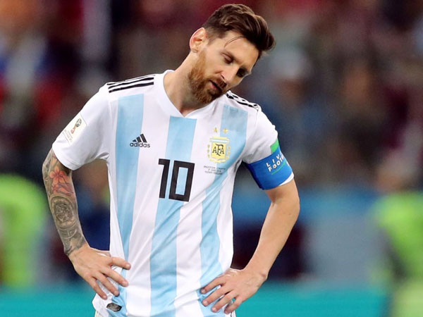 Yang Hanya Bisa Dilakukan Messi Saat Argentina Dilumat 0-3 oleh Kroasia