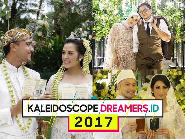 Deretan Selebriti Ini Resmi Menikah Ditahun 2017