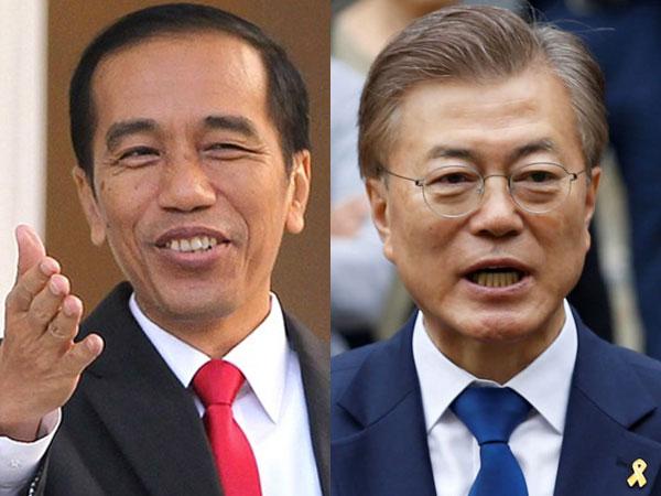 Sambutan Hangat Jokowi Saat Presiden Korea Selatan Moon Jae-in Berkunjung ke Istana Bogor