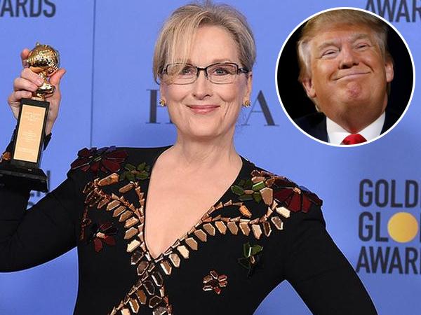 Terima Penghargaan Golden Globe 2017, Meryl Streep Sindir Pedas Donald Trump