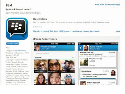 Dalam Sekejap BBM di iOS Mampu Taklukan App Store