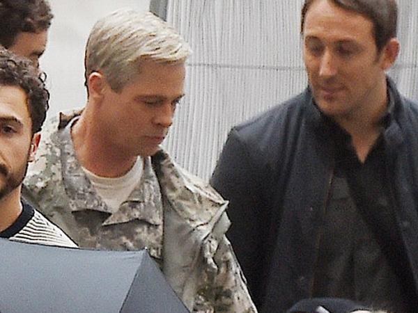 Bawa si Kembar, Brad Pitt Tampil Berkamuflase di Syuting Film Terbaru