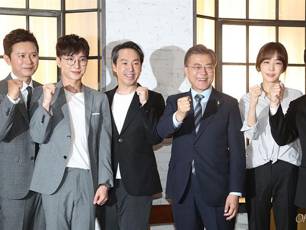 Capres Korsel Kunjungan Budaya Temui Petinggi SM Entertainment & Leeteuk Suju