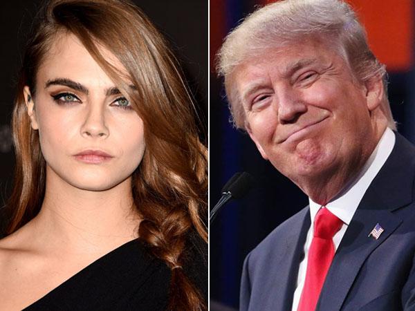 Muak dengan Tingkahnya, Cara Delevingne Tantang Donald Trump Berpose Konyol!