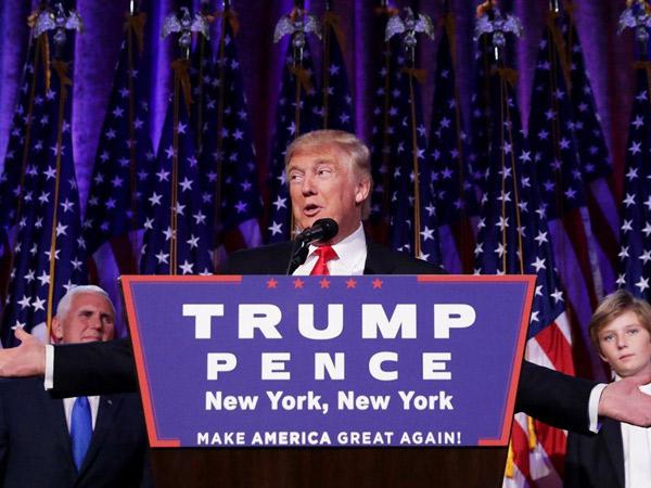 Menang Pilpres, Donald Trump Jadi Presiden Terpilih Amerika Serikat ke-45