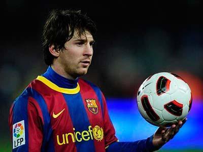 Messi Semangati Barcelona Raih Kemenangan