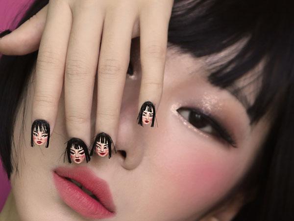 Uniknya Tren Nail Art Wajah yang Sedang Viral Ini, Berani Coba?