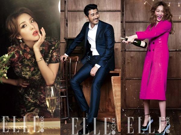 ELLE Rilis Foto Pemotretan Proyek Amal Dara 2NE1 dan Para Aktor YG Entertainment