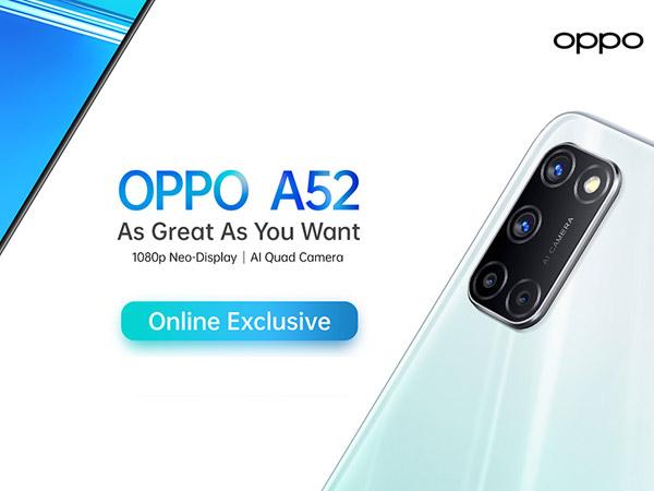 Harga 3 Juta, Oppo Luncurkan Perangkat Baru A52 Khusus Online
