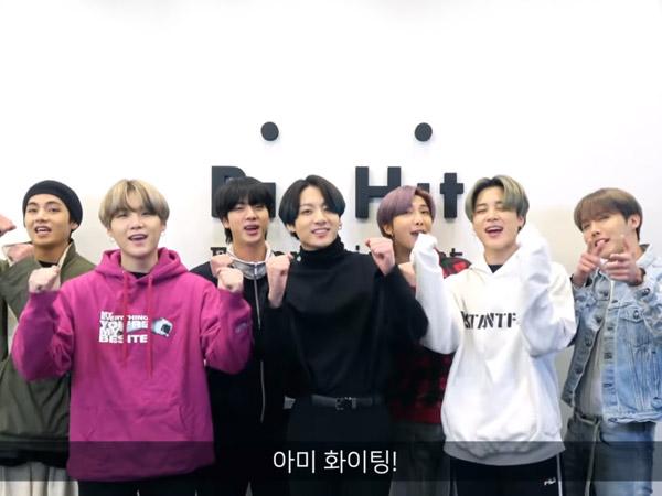 BTS Sampaikan Pesan Semangat Hadapi Corona dan Ajak Son Heung Min Lanjutkan 'Rantai Pesan'