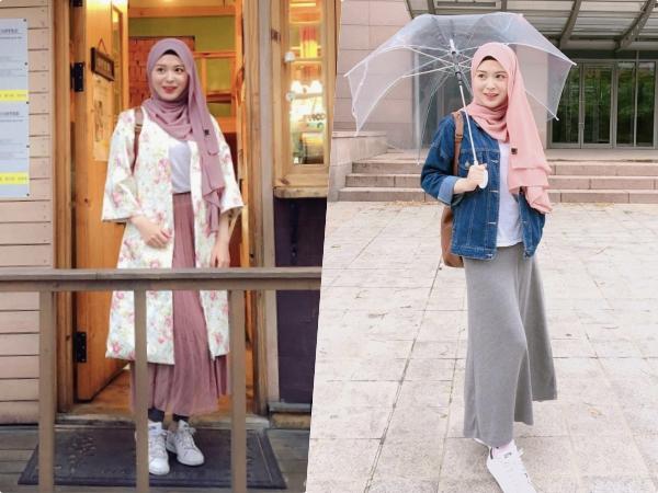 Inspirasi Korean Style Hijab Ala Hijabers Korea Ayana Jihye Moon, Kece Banget!