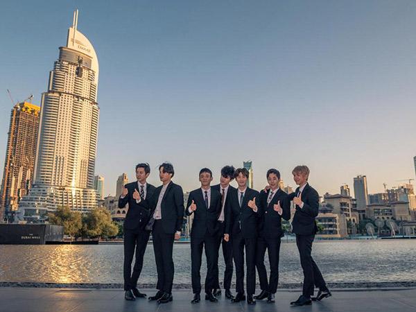 EXO Kembali Buat Sejarah Baru yang Membanggakan di Pertunjukkan Burj Khalifa