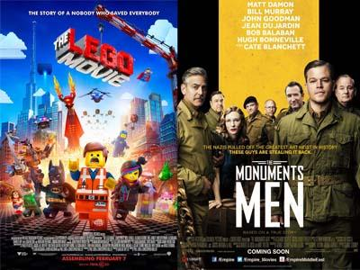 Baru Rilis Perdana, 'The Lego Movie' Singkirkan 'The Monuments Men' George Clooney!
