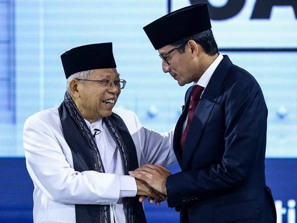 Daftar Janji-Janji Ma'ruf Amin dan Sandiaga Uno di Debat Pilpres Ketiga yang Tak Boleh Dilupakan