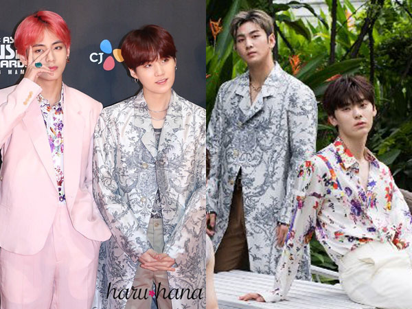 Dior Collection Kembar Suga dan V BTS vs Baekho dan Minhyun NU'EST, Who Wore it Better?
