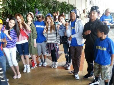 T-ARA N4 Terlihat Berada di Lokasi Syuting Video Klip Chris Brown!