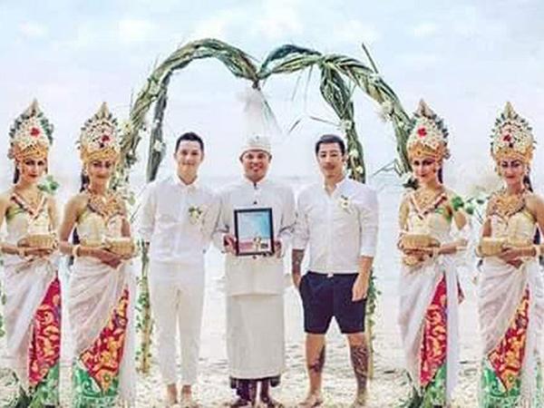 Foto Pernikahan Pasangan Gay di Bali Kembali Buat Heboh, Polisi Segera Usut