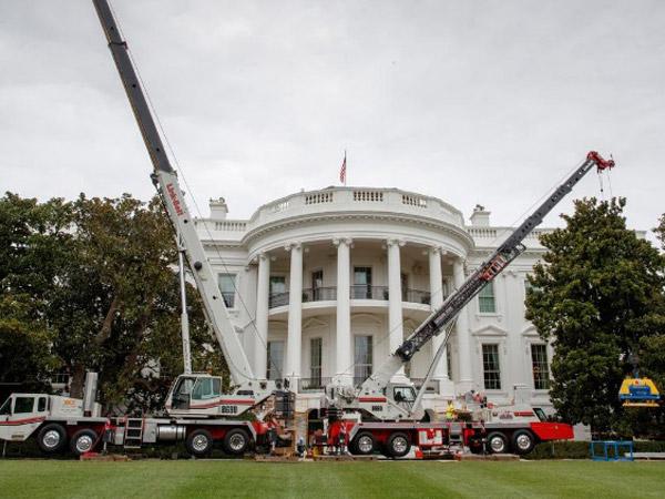 Penampakan Kontras Renovasi Gedung Putih yang Memakan Biaya 45 Miliar