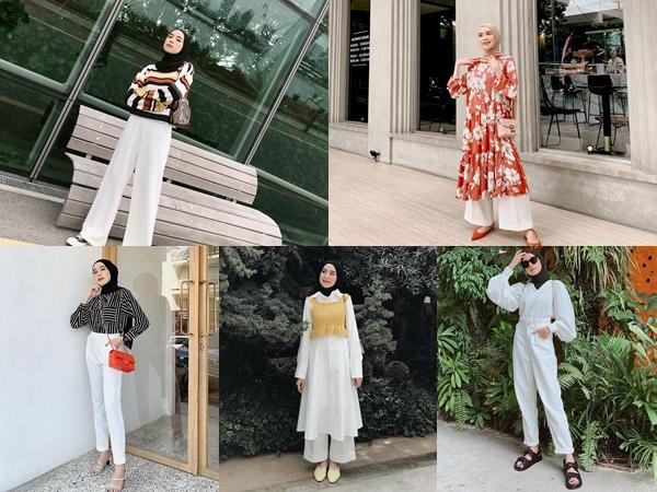 Intip Fashion Hijab Dengan Paduan Warna Putih a La Ameliaelle