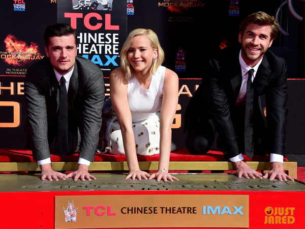 Yeay, Trio 'The Hunger Games' Tanamkan Jejak di Walk of Fame!