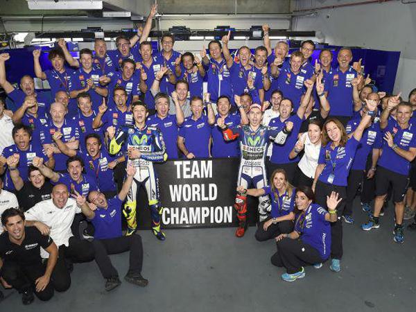 Masih Tersisa 4 Balapan, Movistar Yamaha Pastikan Gelar Juara Tim Dunia MotoGP 2015