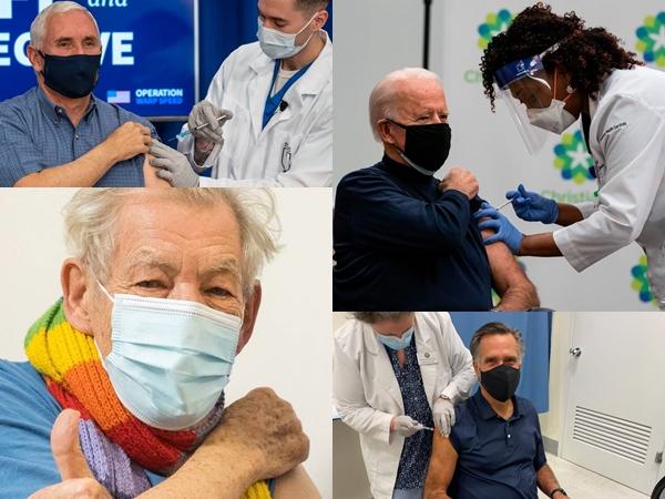 Potret Joe Biden Hingga Aktor Hollywood Suntik Vaksin COVID-19