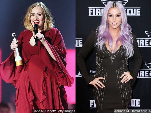 Menang Brit Awards, Adele Beri Dukungan untuk Kesha Atas Kasus Pelecehan