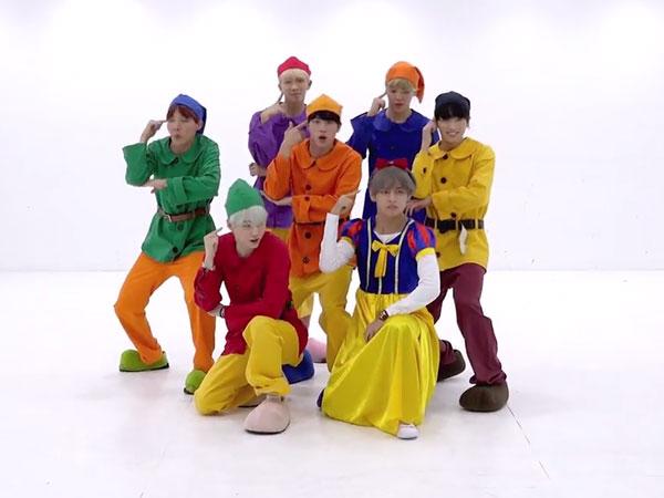 Kocaknya BTS Berubah Jadi 'Putri Salju dan 6 Kurcaci' di Dance Practice 'Go Go'