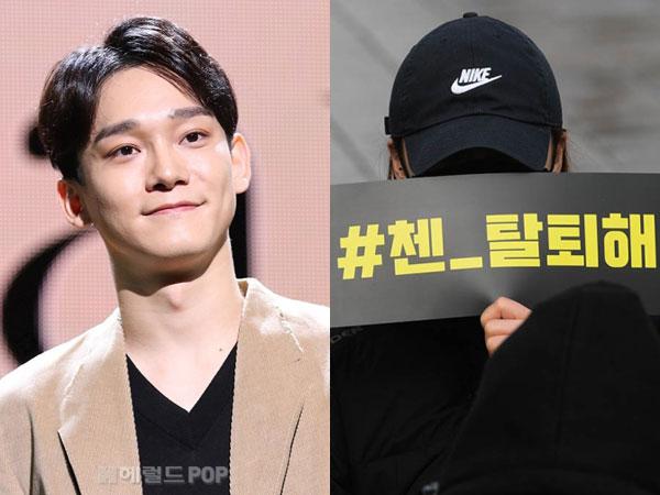 Puluhan Fans Demo di Depan Gedung SM, Inginkan Chen Keluar dari EXO