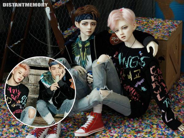 Perusahaan Ini Rilis Boneka 'Kembaran' Jimin dan V BTS