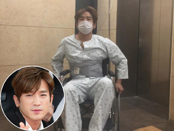 Pakai Kursi Roda Dan Penyangga Pinggang, Minwoo Shinhwa Bikin Khawatir Penggemar