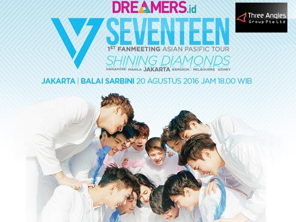 Yeay, Ini Dia Daftar Harga Tiket dan Seat Plan Fan Meeting Seventeen di Jakarta!