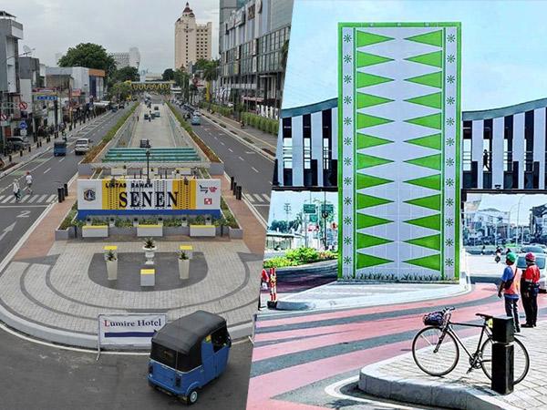 Potret Baru Simpang Lima Senen Makin Modern dan Instagramable