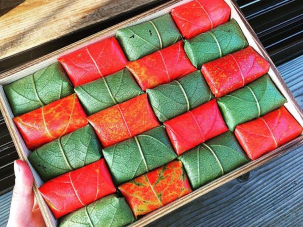 Cantiknya Sushi Cantik Berbungkus Daun Warna-warni Ini, Bagaimana Rasanya?