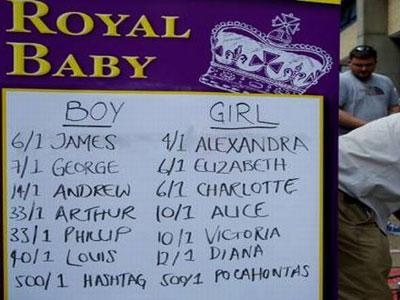 Calon Bayi Pangeran William Dijadikan Taruhan Rumah Judi