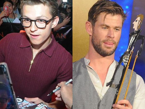 Aksi Tom Holland dan Chris Hemsworth Sapa Fans Lewat Promosi Film di Bali