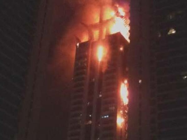 Torch Dubai, Bangunan Tertinggi di Dunia Terbakar