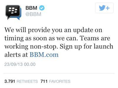BBM untuk Android dan iOS Masih Tertunda