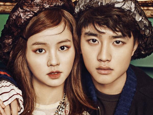 D.O EXO dan Kim So Hyun Jadi Pasangan Fashionista di Pemotretan Vogue