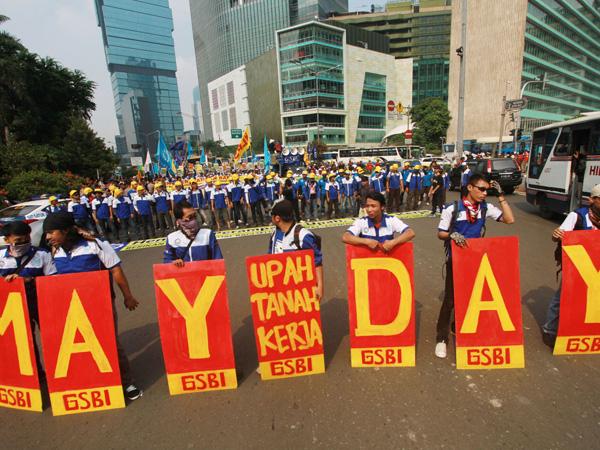 Tak Ada Perusakan, Gubernur Ahok Puji Demo Buruh Saat May Day Kemarin
